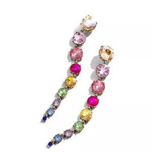 Pastel Rainbow Gemstone Dangle Earrings
